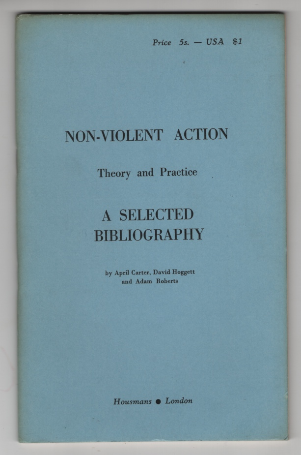 Image for Non-Violent Action: Theory and Practice:  A Selected Bibliography