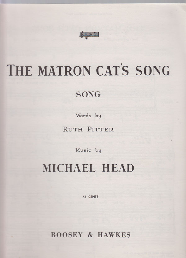 Image for The Matron Cat's Song