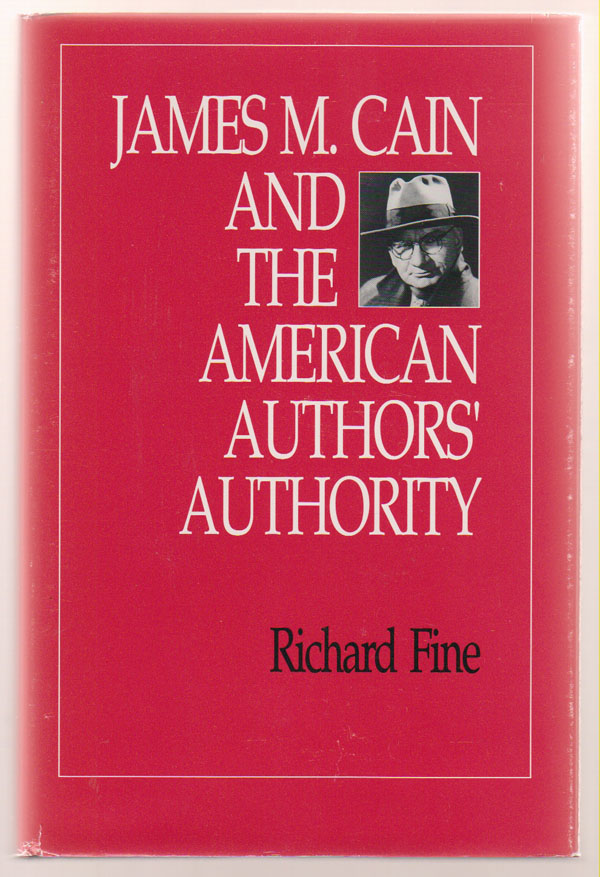 Image for James M. Cain and the American Authors' Authority