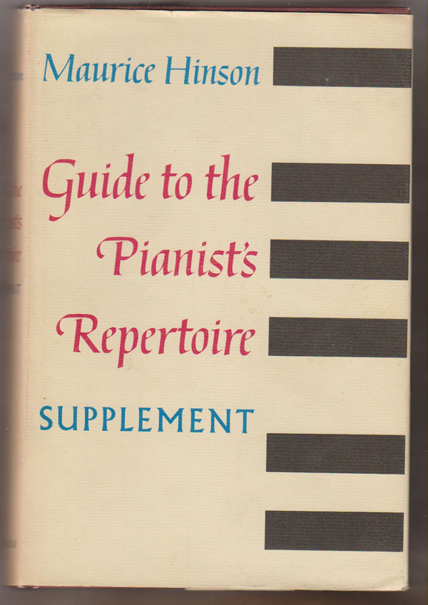 Image for Guide to the Pianist's Repertoire: Supplement