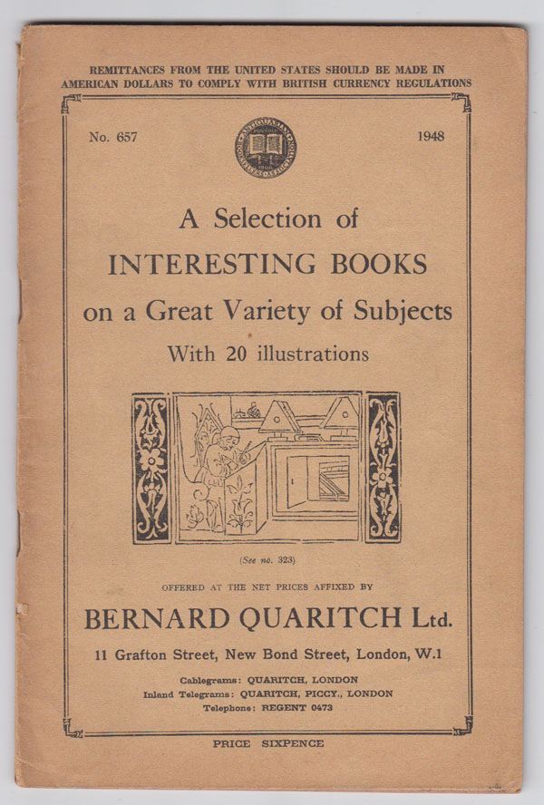 Image for A Selection of Interesting Books on a Great Variety of Subjects  (1948, No. 657)