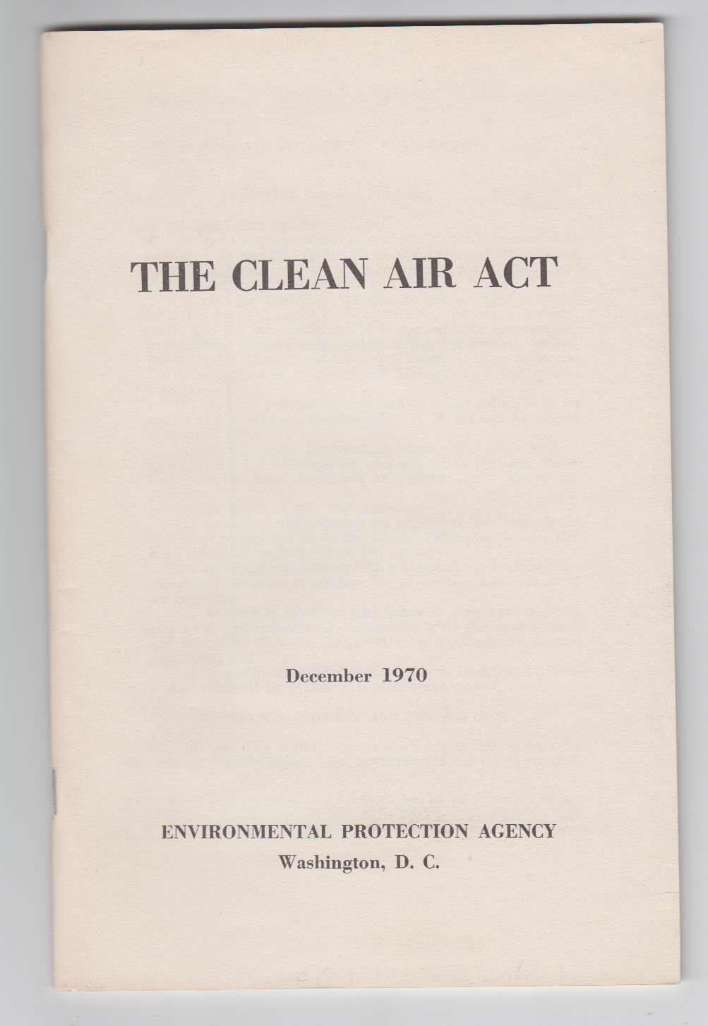 Image for The Clean Air Act