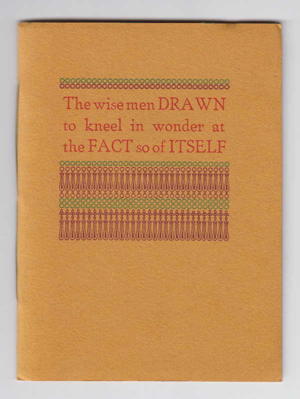 Image for The Wise Men Drawn to Kneel in Wonder At the Fact so of Itself.