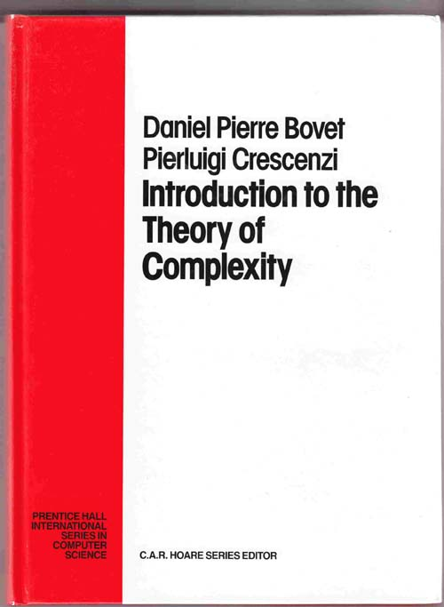 Image for Introduction to the Theory of Complexity