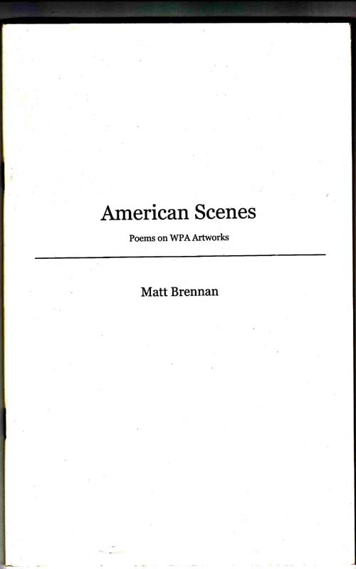 Image for American Scenes: Poems on WPA Artworks
