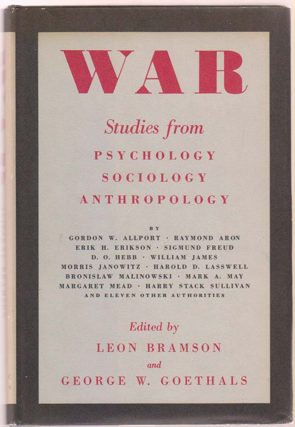 Image for War: Studies from Psychology, Sociology and Anthropology