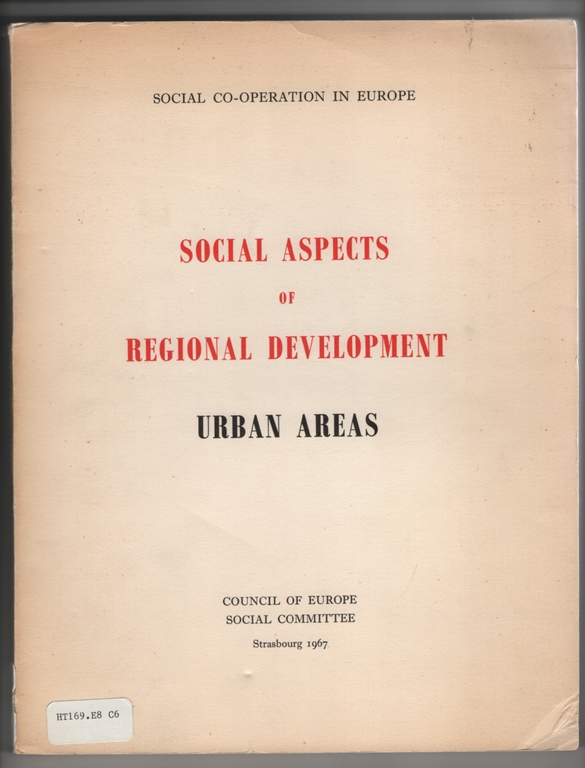 Image for Social Aspects of Regional Development - Urban Areas