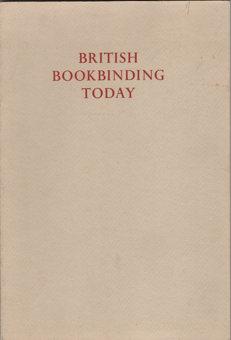 Image for British Bookbinding Today / with an Introduction by Edgar Mansfield