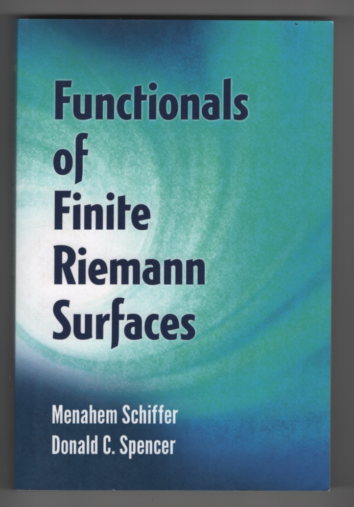 Image for Functionals of Finite Riemann Surfaces