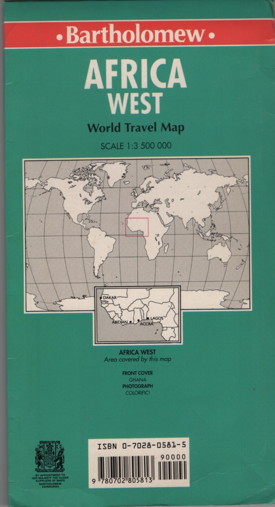 Image for Africa West: World Travel Map